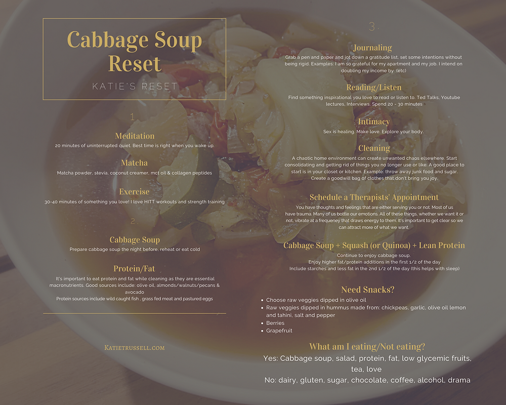 Cabbage soup cleanse