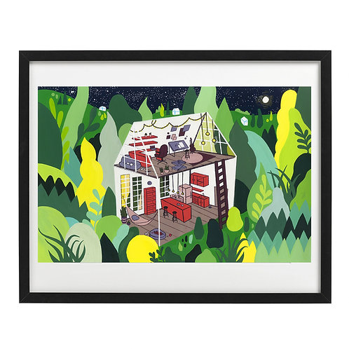 Clubhouse in the Woods (Original Painting)