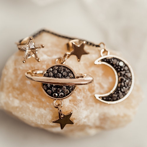 Love You to the Moon & Back Earrings