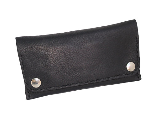 Soft black tobacco pouch