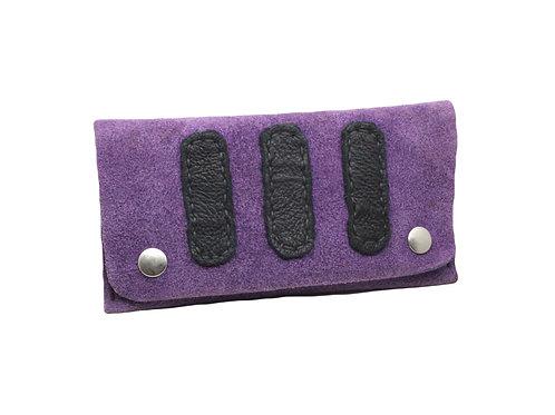 purple suede tobacco pouch