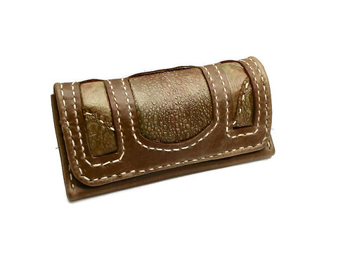 olive green cane toad tobacco pouch
