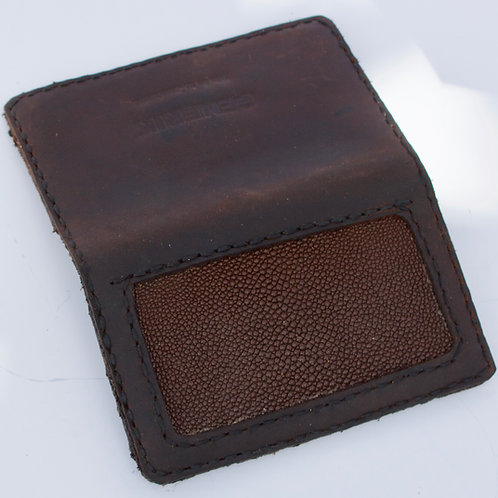 Brown stingray wallet