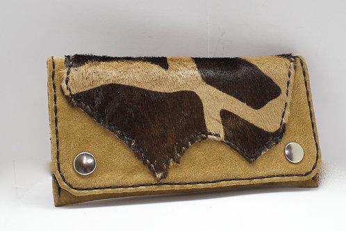 Giraffe print fur tobacco pouch