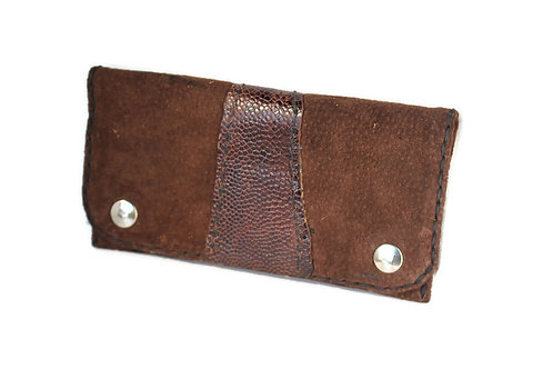 brown suede tobacco pouch