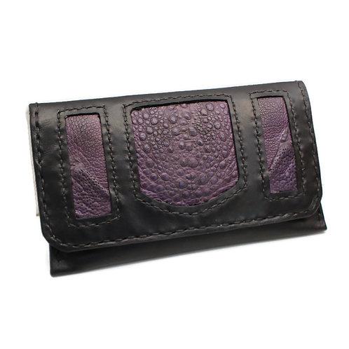Purple cane toad tobacco pouch