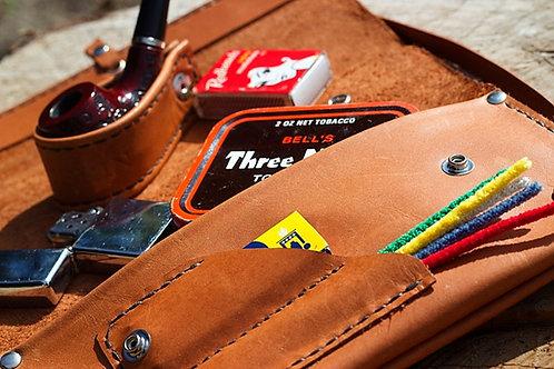 Italian Tan pipe pouch