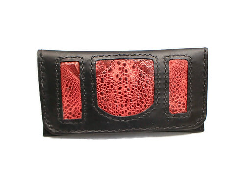 Red cane toad tobacco pouch