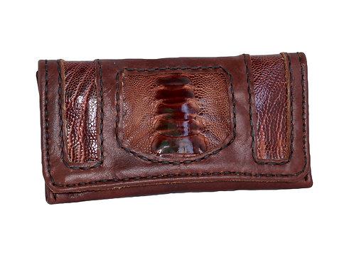 Brown emu tobacco pouch