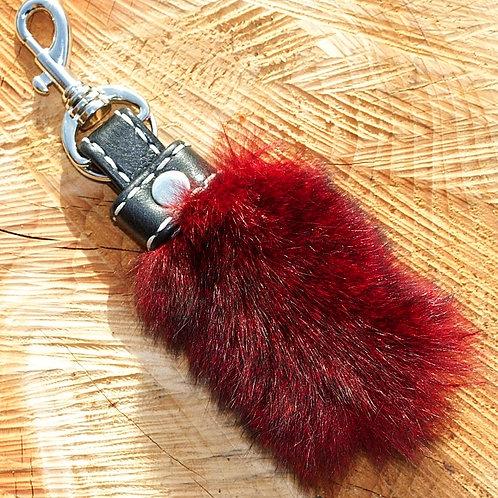 Genuine NZ possum fur keyring