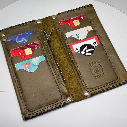Khaki leather wallet