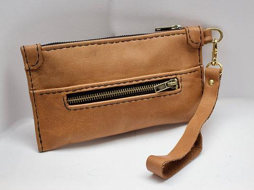 Italian leather clutch