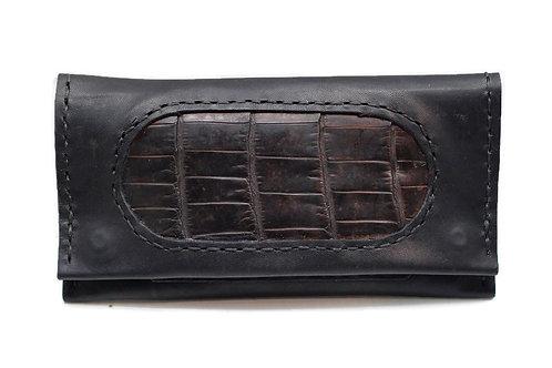 Black Crocodile Smokers Wallet