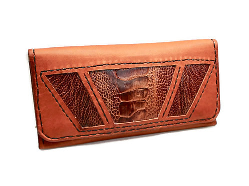 Whiskey Ostrich & Roo tobacco pouch
