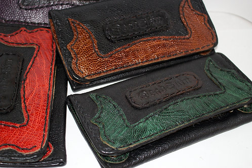 Ostrich leather tobacco pouch