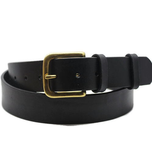 BLACK Wax sealed 38mm ltalian belt