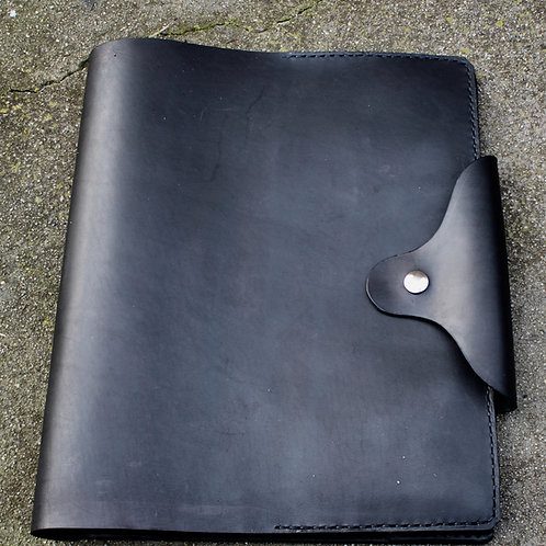 Hardback leather logbook cover