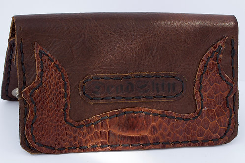Brown Ostrich leather wallet