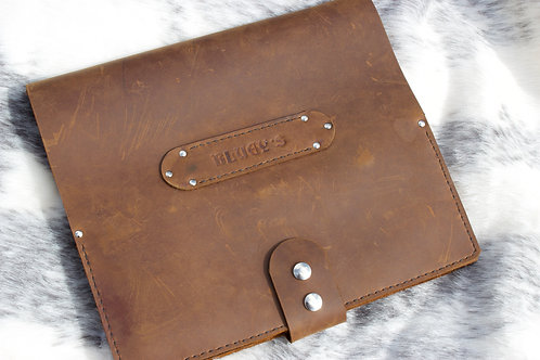 CRAZY HORSE LEATHER LOGBOOK COVER