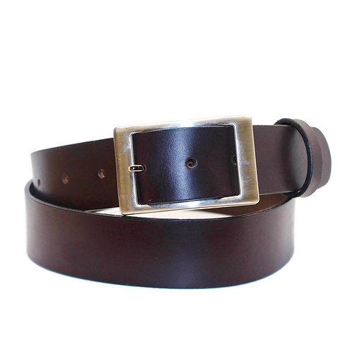 32mm Italian chestnut leather belt