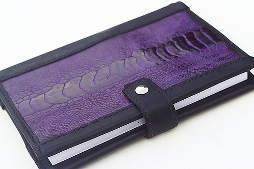 Purple Ostrich leather journal
