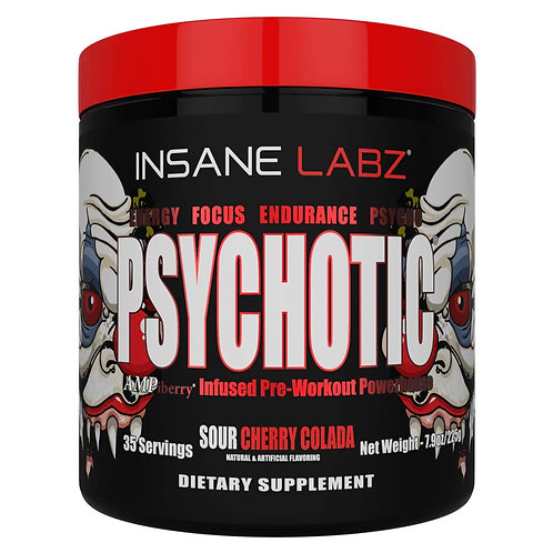 Insane Labz Psychotic RED Pre-workout (Sour Cherry Colada)