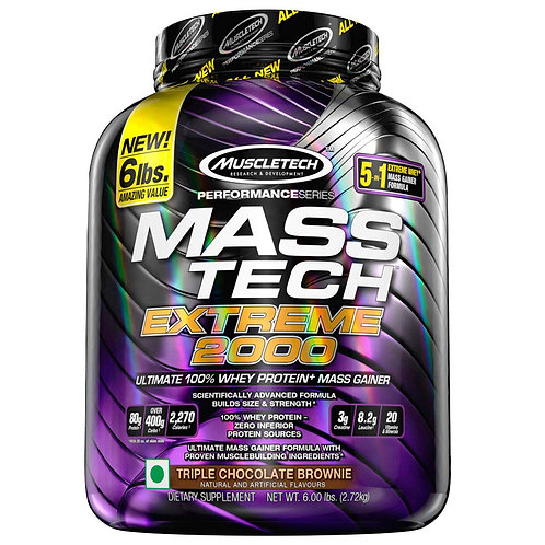 Muscle Tech Mass Tech Extreme 2000 - Triple Chocolate Brownie