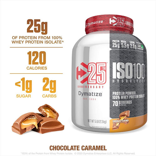 Dymatize ISO100 Chocolate Caramel Protein Powder