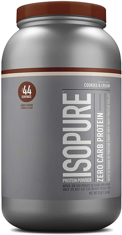 ISOPURE Cookie and Cream whey protein