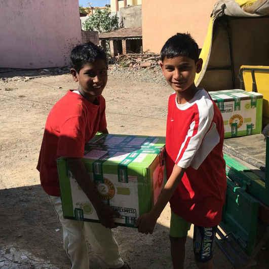 Books arriving in Jamnagar, Gujarat