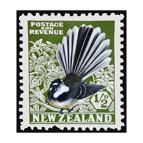 New Zealand Fantail Stamp