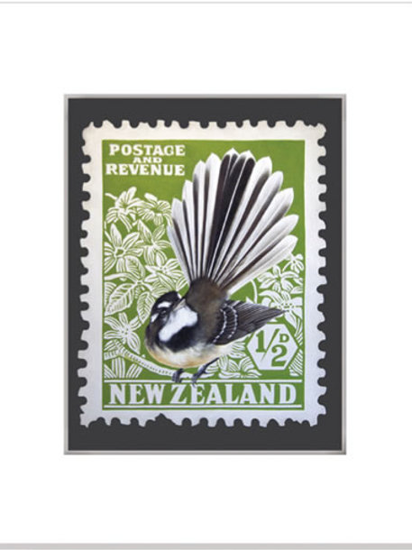 Fantail Stamp (watercolour print)