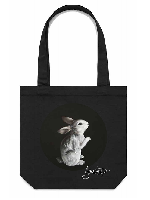 Vintage Bunny Figurine Tote Bag