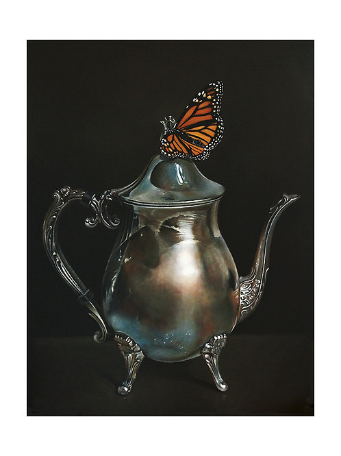 Coffee Pot and Monarch