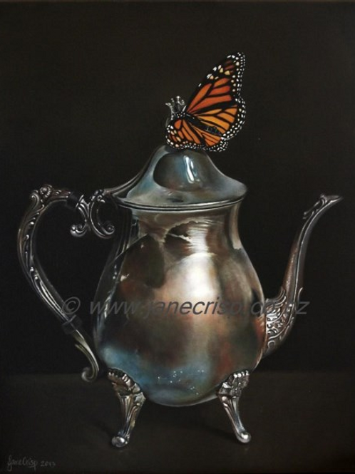 Coffee Pot and Monarch  SOLD