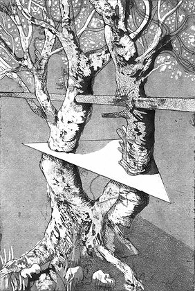 'Forest Virus' Intaglio Print