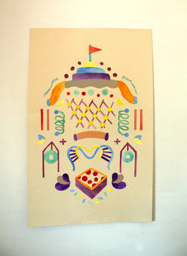Watercolor Cut Paper