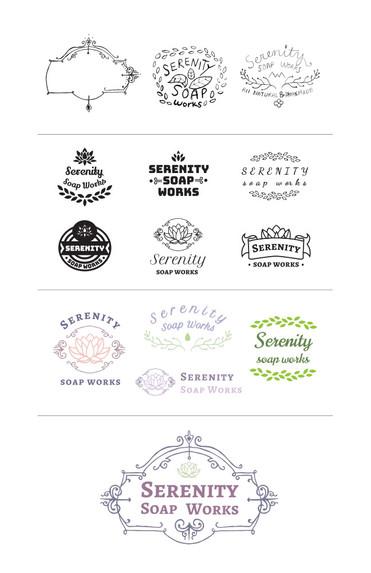Serenity Soapworks Logo Developmental Process