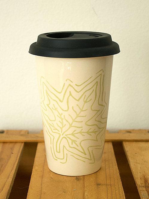 Leaf Screenprint Travel Cup