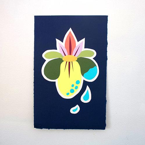 Floral Cut Paper Piece
