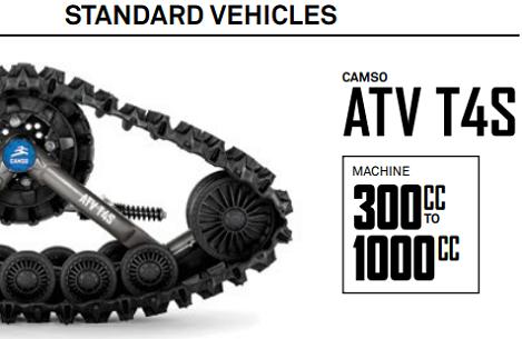 Chenille VTT Camso Tatou T4s 4 saisons financement disponible