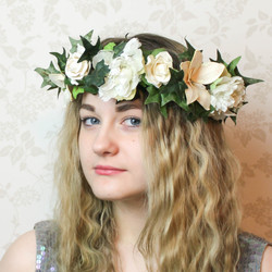 Parchment Flower Hairpiece