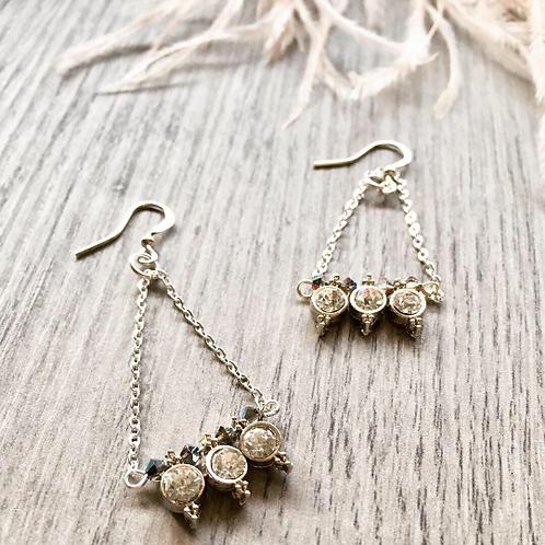 Handbeaded Rhinestone Earrings