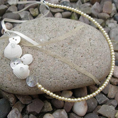 Seashell and Pearl Horseshoe