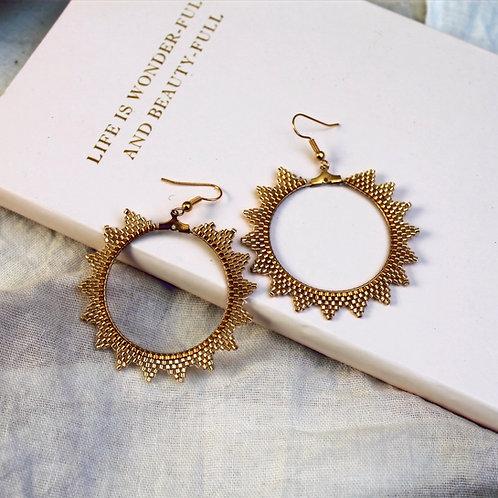 Celestial Goddess Hoop Earrings