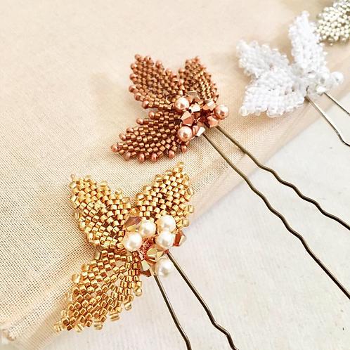 Bracken Beaded Bridal Hair Pins Set of 3