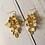 Thumbnail: Gold Floral Metallic Statement Earrings