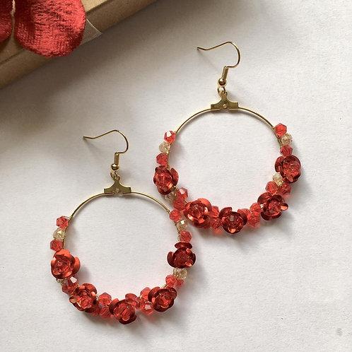 Gypsy Floral Hoop earrings