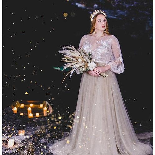 Handbeaded Statement Floral Alternative Bridal Crown