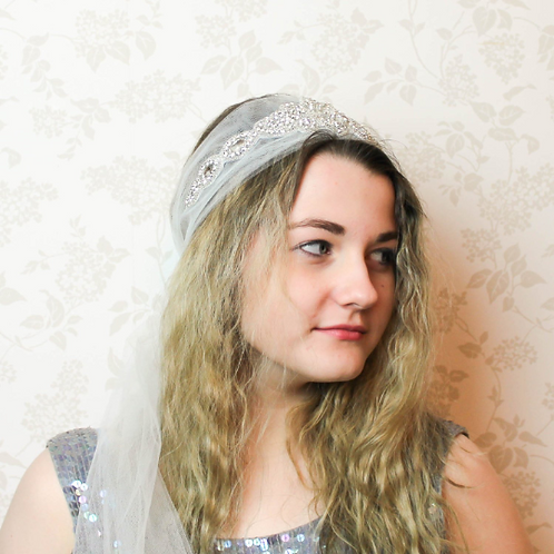 Tulle And Diamante Bridal Hair Accessory